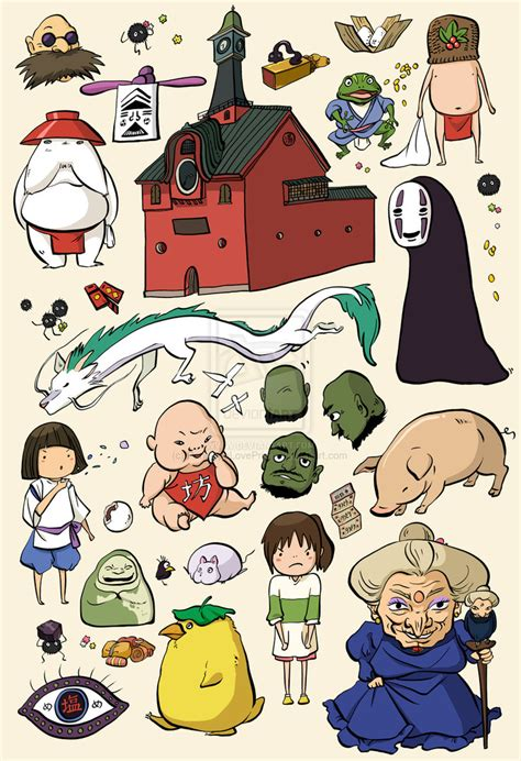 ghibli film characters spirited away studio ghibli character doodles by