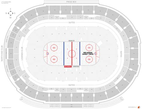 red wings seating chart shoot twice where is the