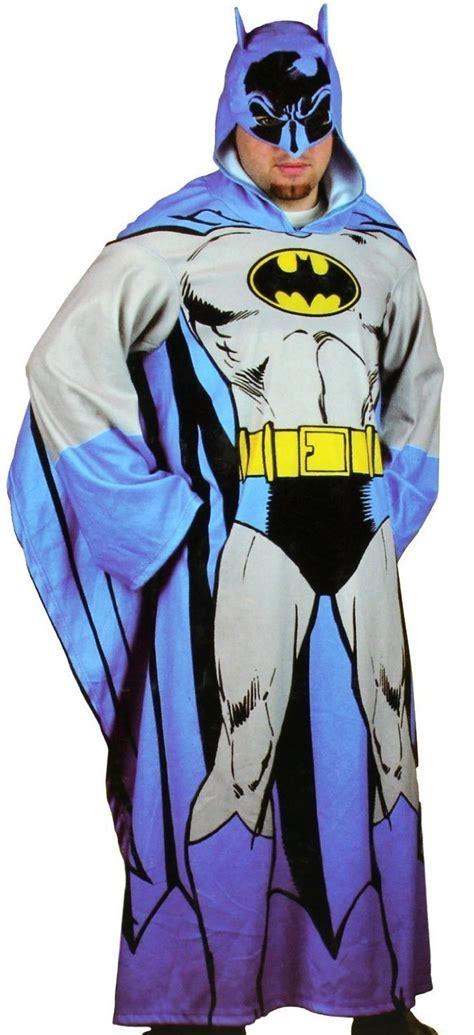 Batman Blanket With Sleeves by Batman Hooded Cozy Blanket With Sleeves Gadgets Matrix
