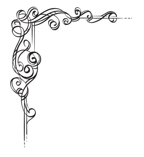 pattern frame corner corner scroll designs clipartion com