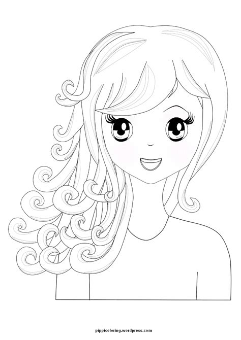 coloring pages of a girl manga girl pippi s coloring pages