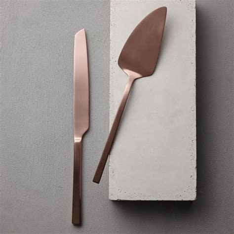 wedding cake knife set gold gold cake knife set west elm
