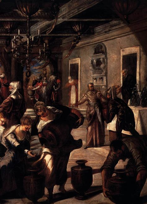 Wedding At Cana Tintoretto by Marriage At Cana Detail By Tintoretto