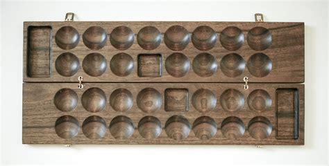 Handmade Mancala Board - handmade bao board an similar to mancala by