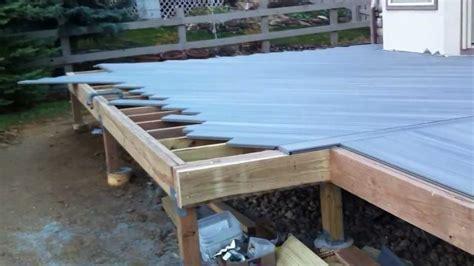 composite deck construction building a composite deck denver deck builder
