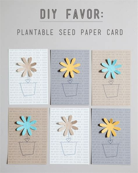 Make Your Own Seed Paper - simple diy plantable seed paper favor something turquoise