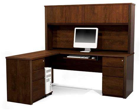 Desk L Shaped Office Furniture Desks With Hutches Storage