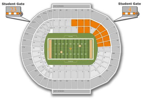d backs stadium seating chart neyland stadium big orange tix
