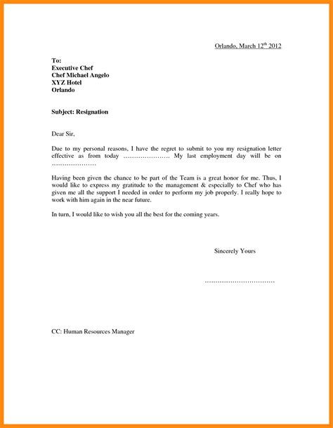 Resignation Letter Format Canada 9 Sle Resignation Letter Canada Graphic Resume
