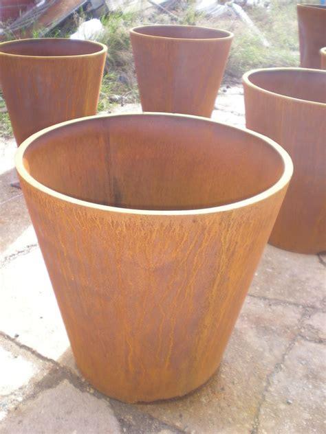 vasi acciaio vasi in lamiera corten di gaetano lavorazione ferro