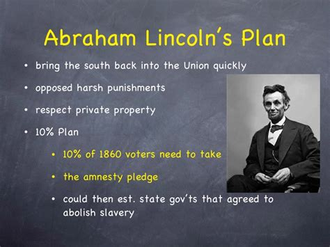 abraham lincoln 10 plan chapter 17 reconstruction updated