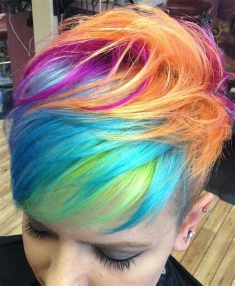 colorful short hair styles amazing colorful hairstyle with short hairs hairzstyle