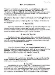 Contract For Hire Template by New Employee Contract Template Ebook Database
