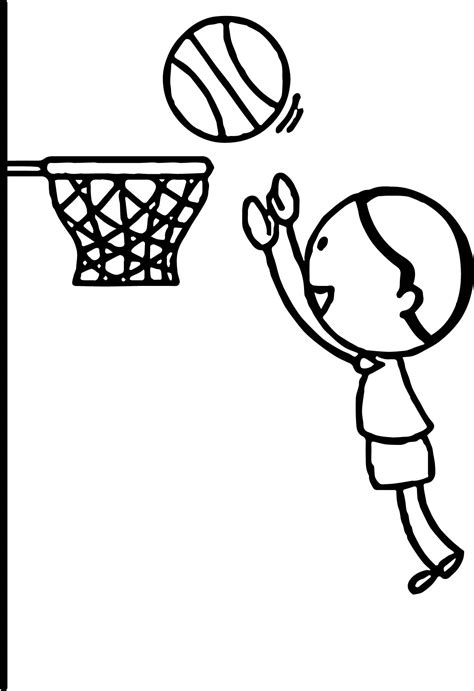 coloring page of boy playing basketball boy playing basketball jumping to hoop playing basketball