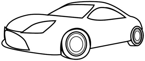 simple coloring pages of cars car simple drawing clipart best