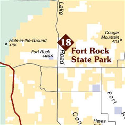 fort rock oregon map birding trail maps