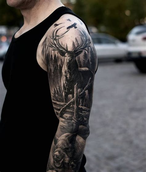 outdoor tattoo sleeves 25 best ideas about tattoos on deer