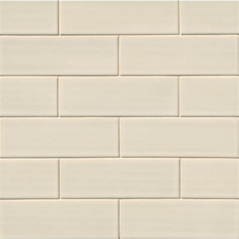 Handcrafted Ceramic Tiles - 4 in x 12 in antique white glazed handcrafted ceramic tile
