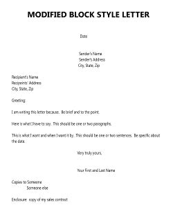 business letter modified block format the business letter
