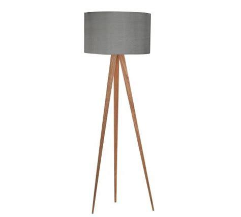Wohnzimmer Design Bilder 2992 by Zuiver Stehleuchte Tripod Wood Grau 10005845