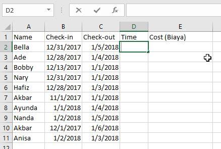 cara membuat rumus query 7 cara membuat rumus tanggal otomatis di excel dan contohnya