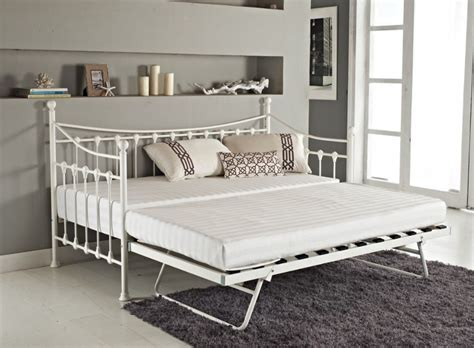 Metal Bed Frame With Trundle by Versatile Ivory Metal Guest Day Bed Frame With Trundle