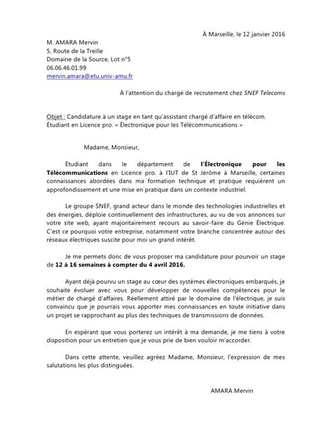 Lettre De Motivation Stage Gouvernante Lettre De Motivation Stage Snef Pdf Par Iliam Fichier Pdf