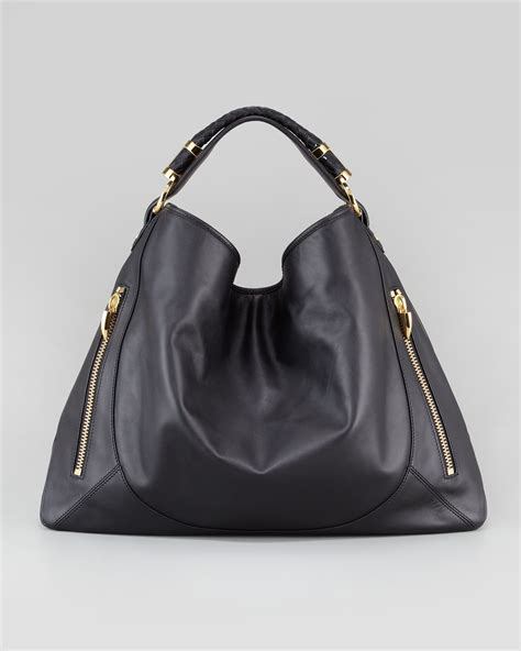 hobo leather bags zoe joni leather hobo bag in black lyst