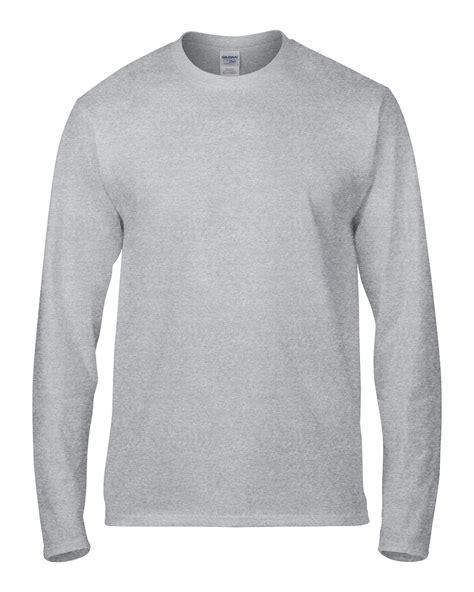 Baju Lengan Panjang Kaos Lengan Panjang jual kaos lengan panjang polos abu gildan sleeve 76400 sport grey kaos singit di