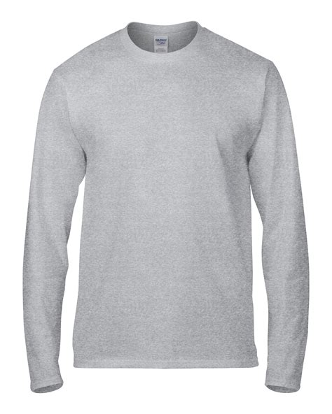 Lengan Panjang Polos Tanpa Gambar Kaos Wanita jual kaos lengan panjang polos abu gildan sleeve 76400 sport grey kaos singit di