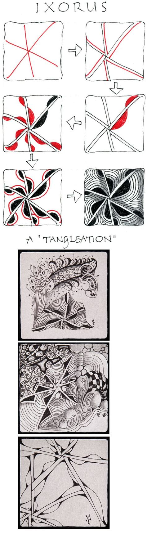 fescue zentangle pattern ixorus official zentangle with exles variations art