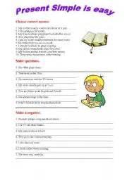esl worksheets for beginners: present simple exercises