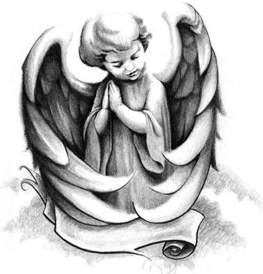 angel praying tattoo designs duty grey ink praying statue design