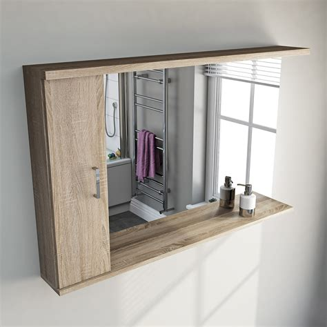 Oak Bathroom Mirror Oak Bathroom Mirror With Lights 1200mm Victoriaplum
