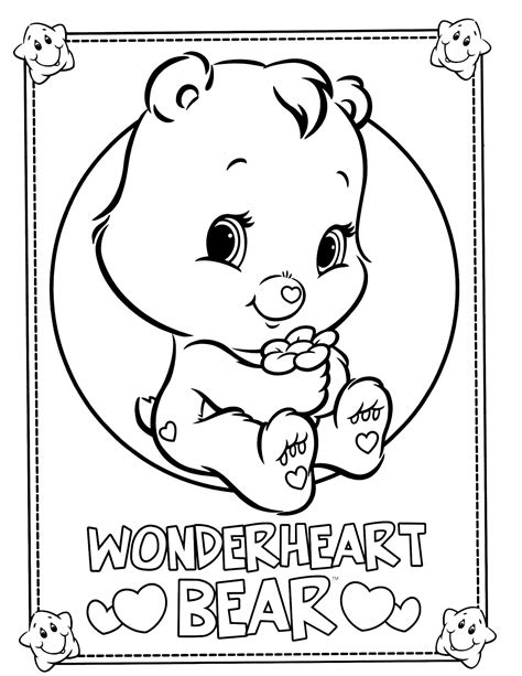wonderheart bear coloring pages care bears 34 coloringcolor com