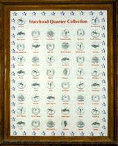 printable state quarter collection sheet jake s marcus oak framed satehood quarter display