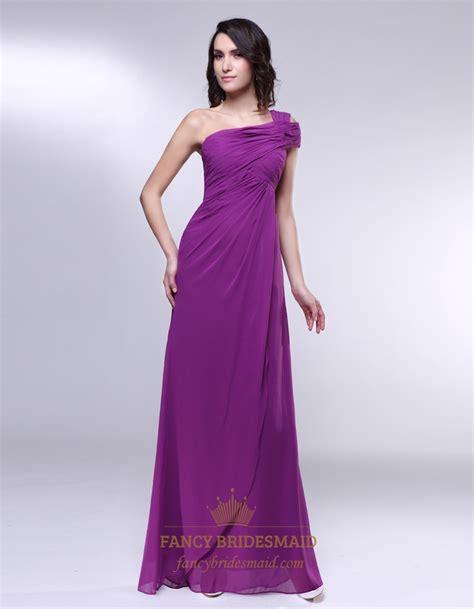 draped formal dress one shoulder chiffon prom dress draped chiffon one