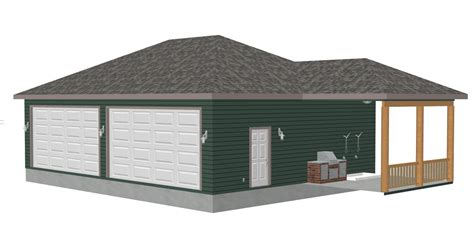 What Does Detached Garage by G399 Renderings Diderickson 8002 56 31 X 42 X 10 Detached