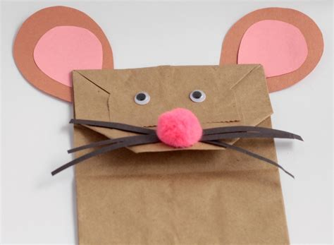 paper bag mouse puppet pattern paper bag mouse puppet craft