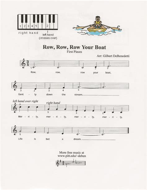 row row row your boat notes piano row row row your boat piano for god