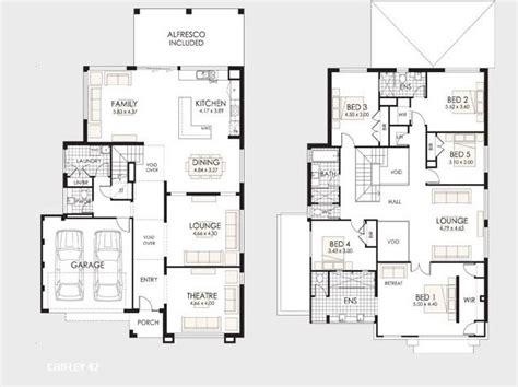 L Shaped Floor Plans planos de casas de dos pisos construye hogar planos