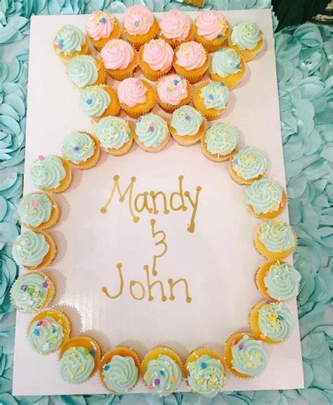 Wedding Ring Cupcakes by Engagement Ring Cupcake Cake