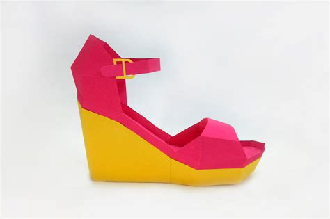 How To Make A Paper High Heel Shoe - diy high heel shoe 3d papercraft by paper amaze