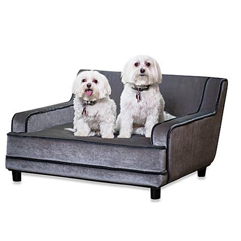 modern dog sofa enchanted home pet mid century modern pet sofa in silver