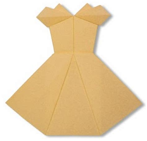 Origami Evening Dress - cocktail dress origami paper origami guide