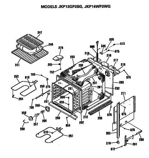 ge range parts diagram general electric jkp14wp3wg electric wall oven timer