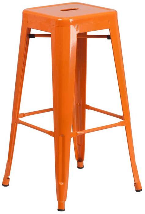 What Causes Orange Stool by 30 Quot Backless Orange Metal Bar Stool Bar Restaurant