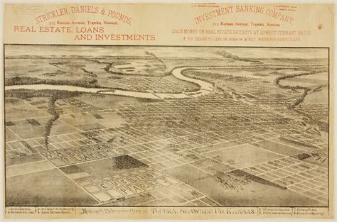 Shawnee County Records Bird S Eye View Of The City Of Topeka Shawnee County Kansas Kansas Memory Kansas