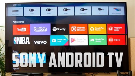 tv sony   android tv review en espanol youtube