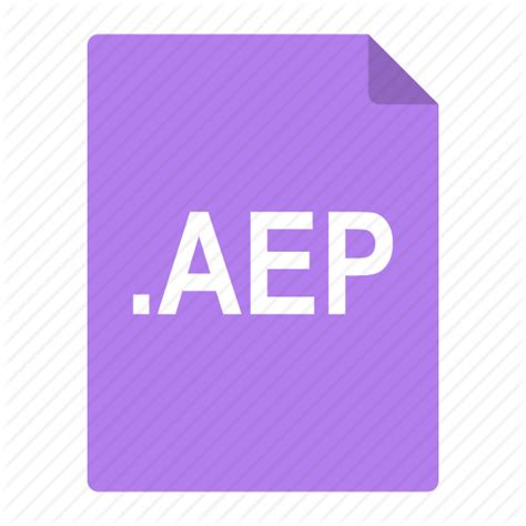 after effects aep adobe aep after effects file format icon icon